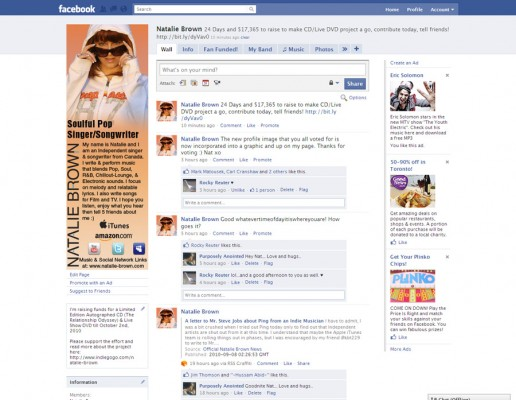 New Facebook Graphic as of Sept 9, 2010