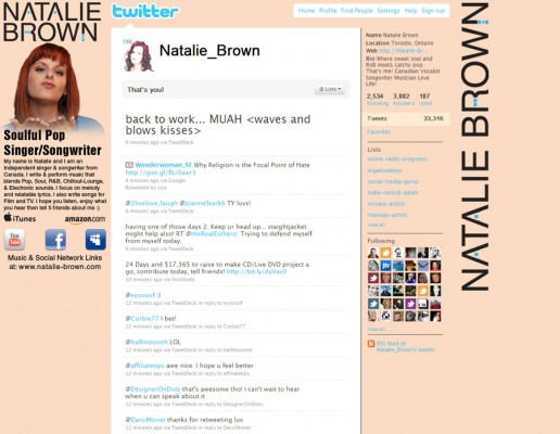 New Twitter background as of September 9, 2010
