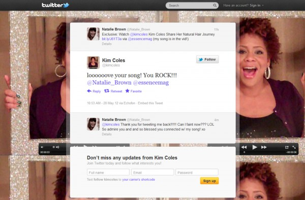 "Kim Coles' Tweet reply to Natalie regarding ""You Gotta Believe"""